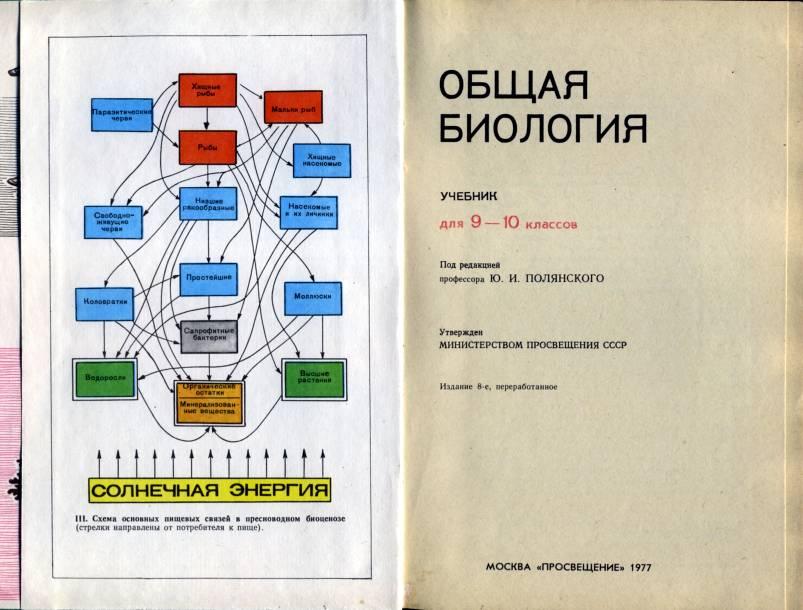 Учебник общая биология для 9 10 классов